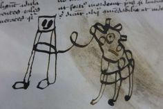Children's doodles in medieval manuscripts