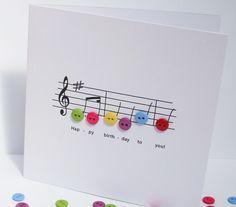 Birthday Music Birthday Card