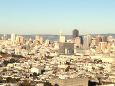 Corona Heights Park Summit in San Francisco, CA has epic views of the city, sunshine or fog.