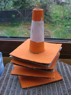 Creating traffic cones with construction paper for kids - Google Search