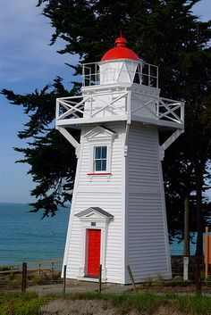 Timaru #Lighthouse - Located in Canterbury, South Island, New Zealand #photography #travel