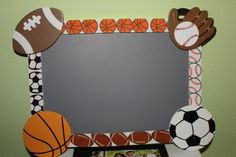 pictures of sports themed classrooms | To finish it off, I used Sharpie Paint Pens to write on the chalk ...