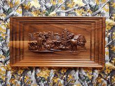 Moose Hunting  Moose Wood Carving  Hunting by TheWoodGrainGallery