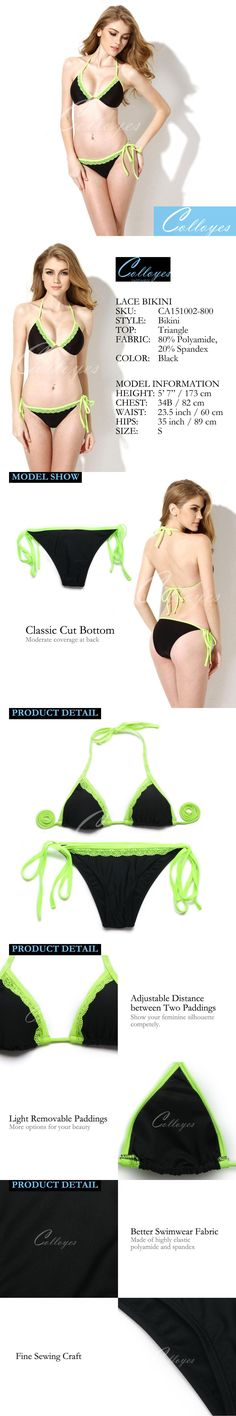 Cheap triangle doll, Buy Quality top 10 car gps directly from China triangle bearing Suppliers: Colloyes 2016 New Sexy Bikinis Set Bathing suit Black + Green Lace Triangle Top with Classic Cut Bottom Women Swimsuit Lace Bikini, Bikini Set, Triangle Top, Green Lace, Women Swimsuits, Bathing Suits, Classic, Sexy, Color