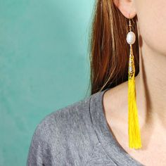 Create Pretty Tassel Earrings. Learn how with the free Guidecentral app!