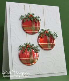 - Wrapped Ornaments - More by Loll Thompson - Cards and Paper Crafts at S. - crafts cards – Wrapped Ornaments – More by Loll Thompson – Cards and Paper Crafts at S… - christmas dekoration Homemade Christmas Cards, Christmas Cards To Make, Christmas Greetings, Homemade Cards, Holiday Cards, Christmas Diy, Christmas Drinks, Christmas Vacation, Christmas Movies