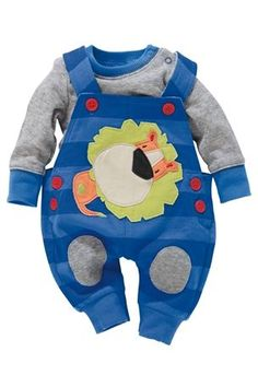 Buy Lion Dungarees And Bodysuit Set (0-18mths) online today at Next Direct United States of America