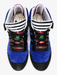 Y-3 Blue Striped Courtside Men's Sneakers