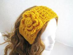 Crochet Dreamz: Striped Ear Warmer (pdf pattern for sale) Ear Warmer Headband, Head Wrap Headband, Knit Headband Pattern, Knitted Headband, Crochet Hot Pads, Free Crochet, Crochet Coaster, Hand Crochet, Crochet Ideas
