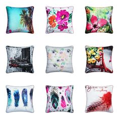 """Item Specifications New luxury feather/floral cushion covers Unique attractive design Materiel front/back polyester Print on front side Add elegance modern look to your place Approximate size is """"you are purchasing cushion cover only"""" Best Linen Sheets, Fitted Bed Sheets, King Size Bedding Sets, King Size Duvet, King Comforter, Comforter Sets, Discount Bedding Sets, Online Bedding Stores, Linen Store"""