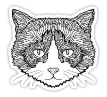 Snowshoe Cat Sticker - Illustrated by @complicolor from the Complicated Coloring Book Series - More info here www.complicatedcoloring.com