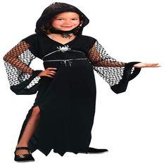 DisfracesMimo, disfraz de viuda negra niña varias tallas. Vestirás a los más pequeños de la casa de forma divertida para acompañarte en Halloween. Este disfraz es ideal para tus fiestas temáticas de miedo y terror para infantil.