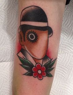 Inspired by A Clockwork Orange, written by Anthony Burgess #literarytattoos
