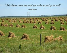 Amish Proverb-'no dream comes true until you wake up and go to work' Canvas Quotes, Scripture Quotes, Simple Words, Cool Words, Smell Quotes, Agriculture Quotes, Amish Proverbs, Great Quotes, Inspirational Quotes