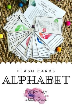 Printable Alphabet Flash Cards perfect for learning letters and practicing early handwriting skills. Keep them organized with a binder ring for the perfect on the go learning activity. Turn this set into a gross motor game by adding a fly swatter, use with dry erase markers, or even with play dough or other manipulatives. Print • Cut • Laminate • Ring • Play Preschool Learning Activities, Preschool Printables, Home Learning, Motor Activities, Early Learning, Alphabet Display, Flip Flop Wreaths, Printable Alphabet, Magnetic Letters