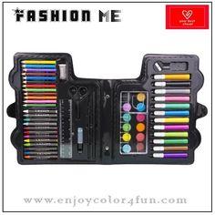 Item: 57pcs cute stationery set Box size: 26*24*4cm Composition:  1. 12pcs cryons            2. 12pcs color pencils 3. 12pcs pancake         4. 12pcs color markers 5. 1pc eraser                6. 1pc ruler 7. 1pc glue                    8. 1pc scissor 9. 1pc pencil                 10. 1pc paint brush 11. 1pc sharpener         12.1pc palette 13. 1pc spongie