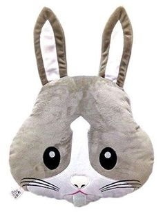 Poop Emoji Pillow Emoticon Stuffed Plush Toy Doll Smiley Cat Heart Eyes Alien Devil Kiss Face (RABBIT)