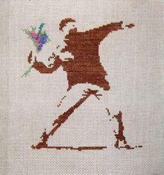 Street Art Cross Stitch - Sew Yourself a Banksy (GALLERY)