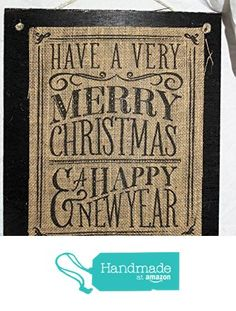 Burlap Country Rustic Chic Wedding Sign Western Home Décor Sign : Have a Merry Christmas and a Happy New Year from Texas Burlap Boutique