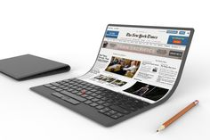 Lenovo shows off an absurd laptop concept with a flexible screen - The Verge