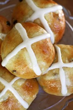 hot cross buns - recipe from my favorite book Artisan Bread in Five Minutes a Day