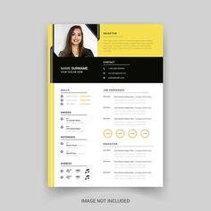 Rstech | Freepik Modern Cv Template, Resume Design Template, Creative Resume Templates, Print Templates, Brochure Template, Business Poster, Business Brochure, Timeline Infographic
