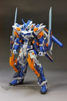 MG Gundam Astray Blue Frame Third - (Resin Conversion) Custom Build Gundam Toys, Gundam Art, Armadura Ninja, Mecha Suit, Gundam Astray, Gundam Mobile Suit, Carapace, Gundam Custom Build, Cool Robots