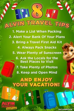 Christmas Countdown: 8 Alvin Travel Tips | Alvin and the Chipmunks: The Road Chip