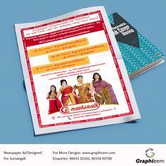 Newspaper Ad Designed For Sumangali
