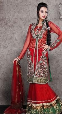 Aesthetic Red Lehenga Choli