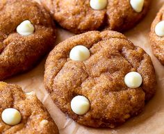 Pumpkin White Chocolate Chip Snickerdoodles - YUMMERS!