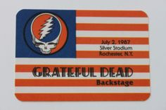 Grateful Dead Backstage Pass 7-2-87 Silver Stadium Rochester New York in Entertainment Memorabilia, Music Memorabilia, Rock & Pop | eBay