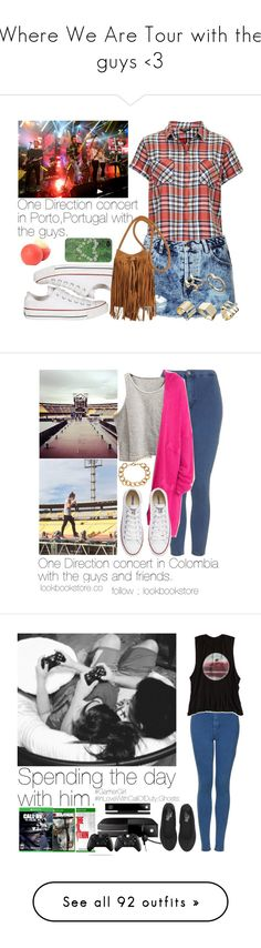 """""""Where We Are Tour with the guys <3"""" by welove1 ❤ liked on Polyvore featuring Topshop, Converse, ASOS, With Love From CA, dELiA*s, American Eagle Outfitters, Superdry, Microsoft, justamazing and gamergirl"""