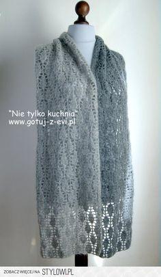ażurowy szal na szydełku na Stylowi.pl