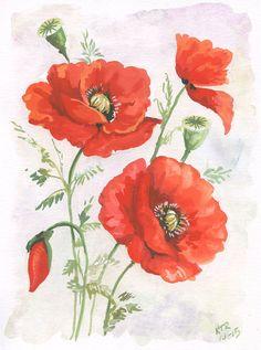 Poppy Print | KimTRichardsStudio