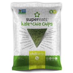 SuperEats Chili Lime Kale and Chia Chips 1.5-ounce Bag (Pack of 24)