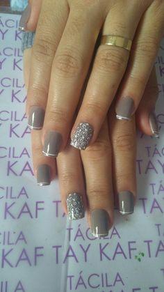 39 Ideas wedding nails design indian for 2019 Elegant Nail Designs, Elegant Nails, Nail Art Designs, Trendy Nails, Cute Nails, Hair And Nails, My Nails, Nails 2018, Wedding Nails Design