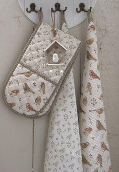 Singing Birds   Romantic   Kitchen   Towel   Fabric   Pattern Home Textile, Textile Design, Romantic Kitchen, E Textiles, Kitchen Towels, Fabric Patterns, Home Accessories, Singing, Birds