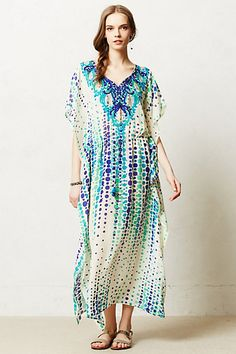 39fb3a1fc3f Indigofera Embroidered Kaftan  anthropologie Ethnic Wear Designer