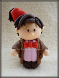 "Doctor Who- The 11th Doctor (Fez Edition) Fimo / Polymer clay ""Ickle"" Ludicris Miniature by Ludicris Cake Toppers"