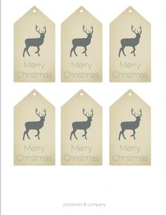 Printable Christmas Tags  #printable  #Christmas #tags