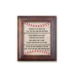 Baseball poem print. Boys Sports bedroom art. Baseball print. Instant download printable. PDF JPG diy digital wall art. Sports print. by GrapevineDesignShop on Etsy Bedroom Prints, Bedroom Art, Nursery Prints, Kids Bedroom, Baseball Poems, Baseball Wall Art, Boy Sports Bedroom, Digital Wall, Kids Prints