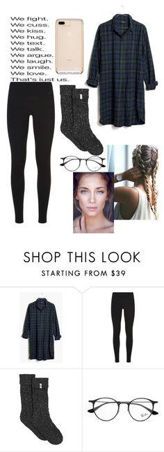 """""""Ootn and Set #15"""" by xxjustacrybabyxx ❤ liked on Polyvore featuring Madewell, NIKE, UGG and Ray-Ban"""