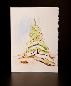Unique Christmas Cards - Handpainted Watercolor