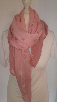 Made in Italy* Seiden-/Baumwollschal mit Farbverlauf und Sternen, rosa