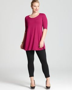 Eileen Fisher Plus  | More here: http://mylusciouslife.com/fashion-for-curvy-girls-plus-size-models-and-where-to-buy/