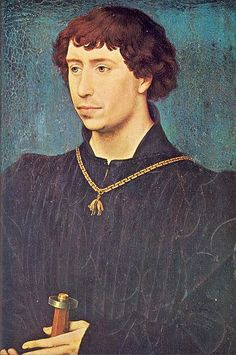 """Charles the Bold"", 1460, by Rogier van der Weyden (Early Flemish, 1399/1400-1464). Charles, called the Bold (1433–1477), duke of Burgundy, son of Philip III, Duke of Burgundy and Isabella of Portugal, was born in Dijon on November 10, 1433. In his father's lifetime he bore the title of Count of Charolais. He married three times, Catherine of France (1428–1446), Isabella of Bourbon (1436–1465), and Margaret of York (1446–1503)."