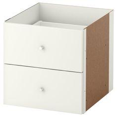 KALLAX Insert with 2 drawers - high gloss white - IKEA