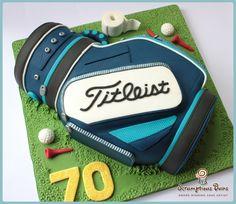 #Titleist Golf Bag Cake