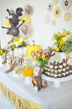 monkey themed party Festa infantil de 1 ano com tema de macacos feita por babolina.com.br